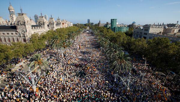 Las manifestaciones en Cataluña del 11 de septiembre de 2016 - Sputnik Mundo
