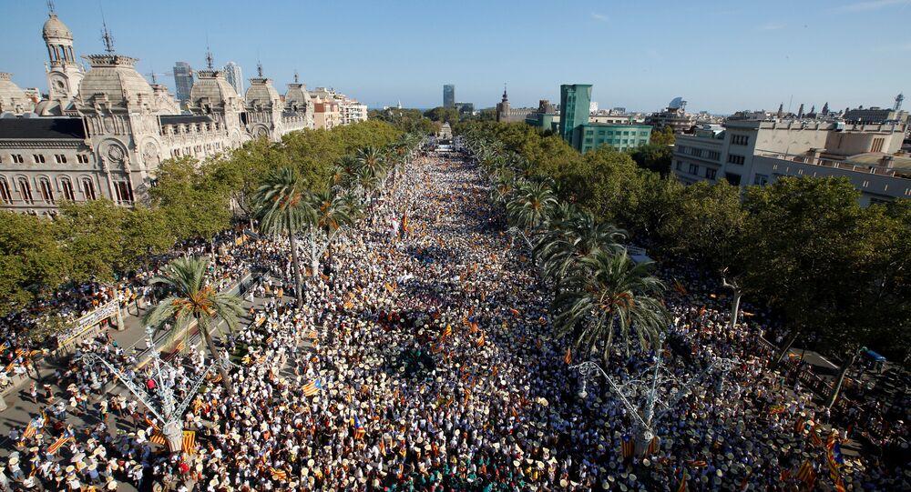 Las manifestaciones en Cataluña del 11 de septiembre