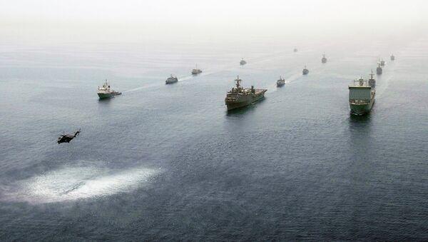 Naves en el golfo Pérsico (archivo) - Sputnik Mundo