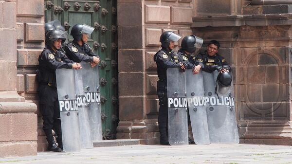 Policías peruanos (archivo) - Sputnik Mundo