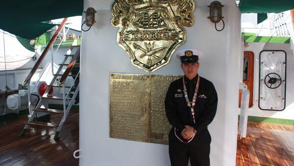 Juan Pablo Salazar Clavijo, tripulante del buque Gloria - Sputnik Mundo