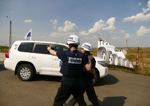 OSCE en la línea de contacto en Donbás