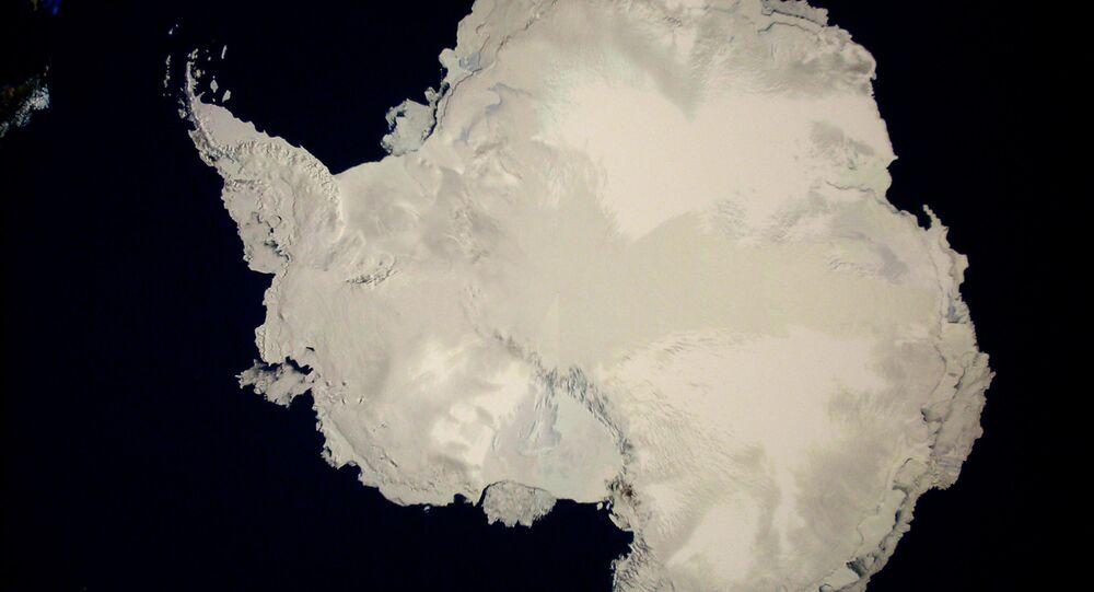 Foto de satélite de la Antártida