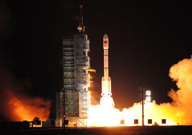 China lanza al espacio el laboratorio habitable Tiangong-2 (archivo)
