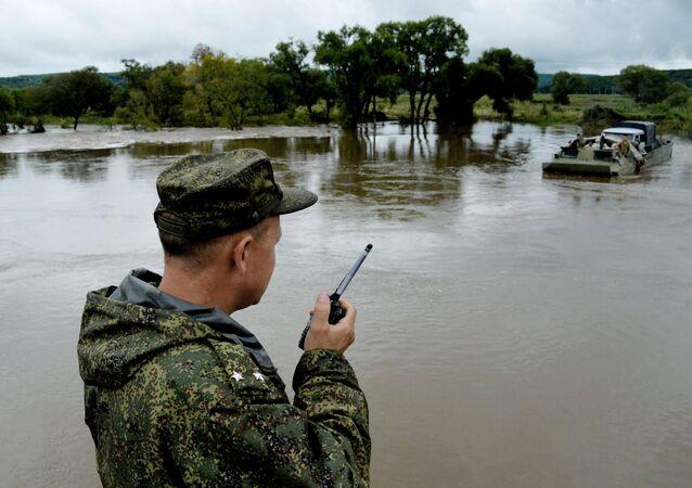 Consecuencias del tifón Lionrock en la región rusa de Primorie