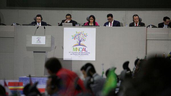 Delcy Rodríguez, ministra de Exteriores de Venezuela, en la cumbre de MNOAL - Sputnik Mundo