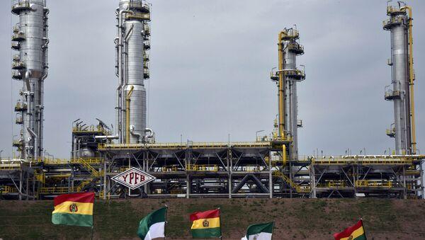 La planta de gas de Carlos Villegas, en Bolivia - Sputnik Mundo