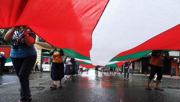 La ikurriña, la bandera del País Vasco - Sputnik Mundo