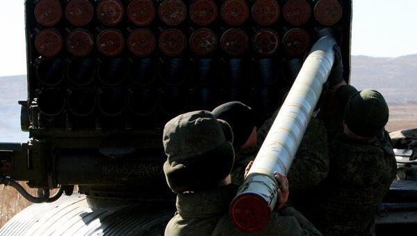 Lanzacohetes múltiple ruso Tornado - Sputnik Mundo
