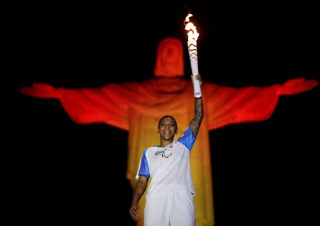 La antorcha olímpica de los JJOO de Río 2016