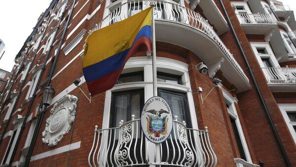 La Embajada de Ecuador en Londres, asilo de Julian Assange - Sputnik Mundo