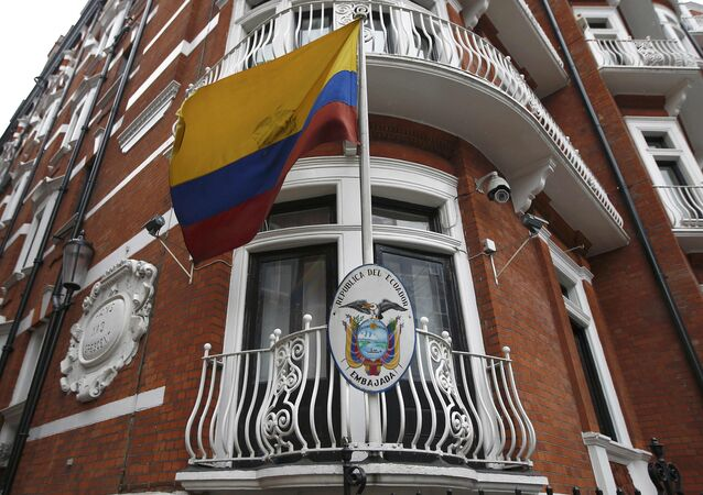 Embajada de Ecuador en Londres, Reino Unido (archivo)