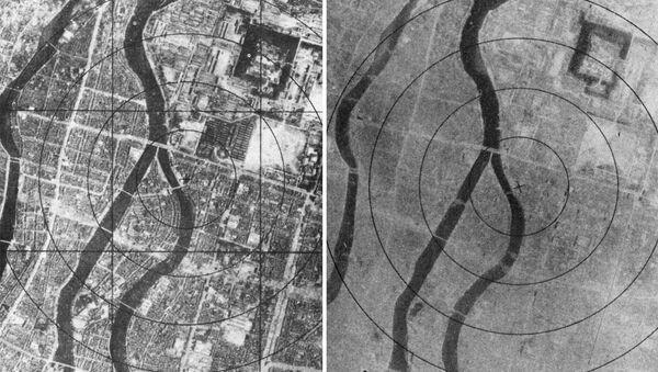 La ciudad de Hiroshima antes y después del bombardeo, 6 de agosto de 1945 - Sputnik Mundo