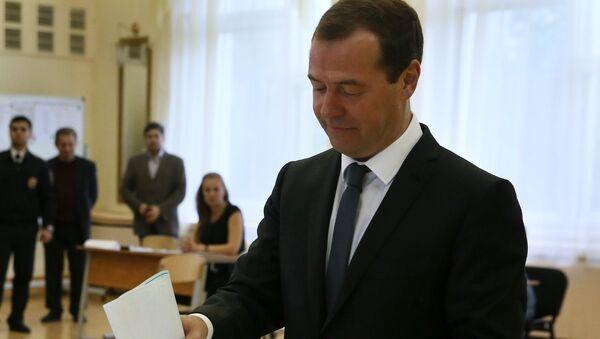 Dmitri Medvédev, primer ministro ruso y líder del partido Rusia Unida - Sputnik Mundo