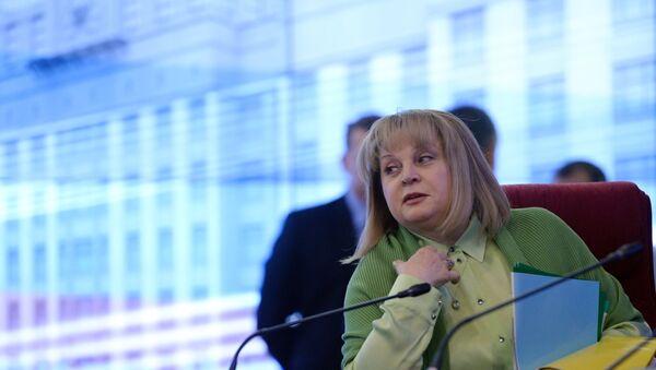 La presidenta de la Comisión Electoral Central rusa, Ela Pamfílova - Sputnik Mundo