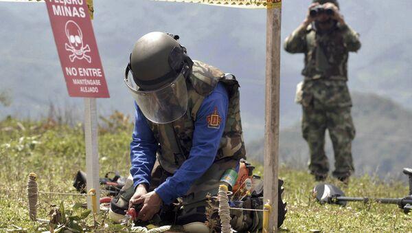 Desminado en Colombia - Sputnik Mundo