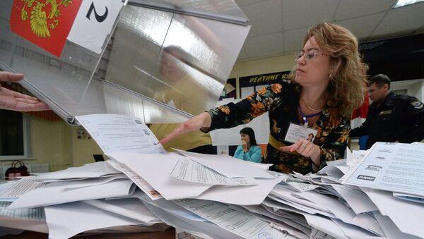 El recuento de votos en Rusia - Sputnik Mundo