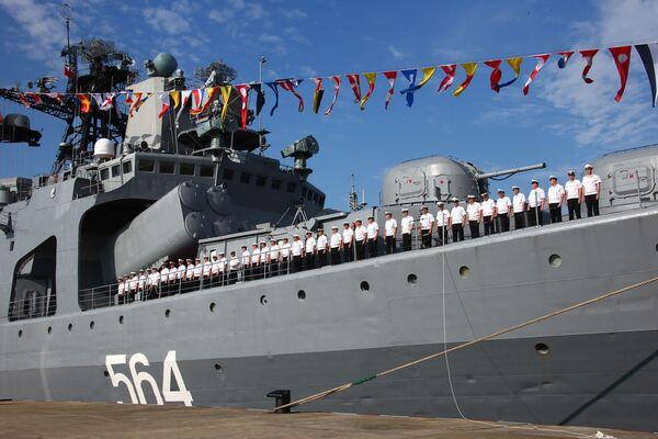 Las maniobras conjuntas de Rusia y China 'Cooperación Marítima 2016' - Sputnik Mundo