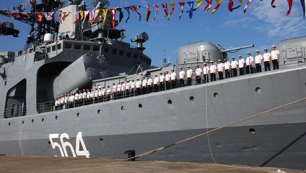 Maniobras ruso-chinas Cooperación Marítima (Archivo) - Sputnik Mundo
