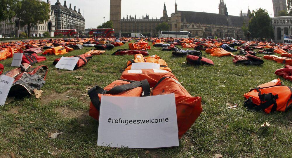 Protesta en Londres contra la propuesta anti-inmigración de Theresa May