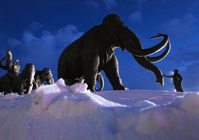 El modelo de un mamut