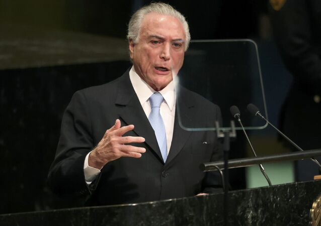Michel Temer, el presidente de Brasil (archivo)