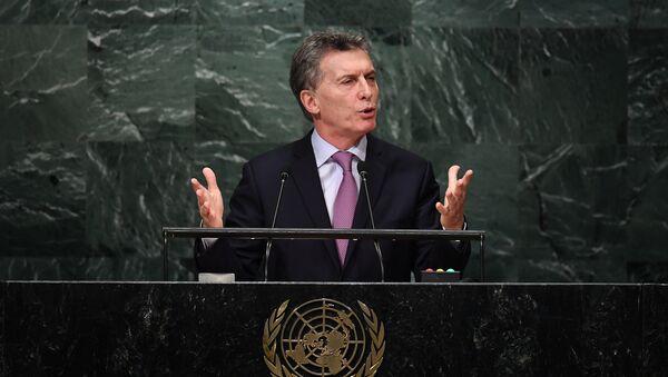 Mauricio Macri toma la palabra en la Asamblea General de la ONU  - Sputnik Mundo