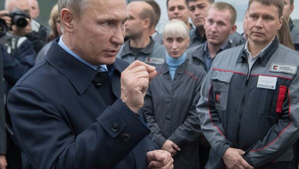 Рабочая поездка президента РФ В. Путина в Ижевск - Sputnik Mundo