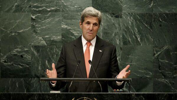 John Kerry, secretario de Estado de EEUU, durante la 71 Asamblea General de la ONU - Sputnik Mundo