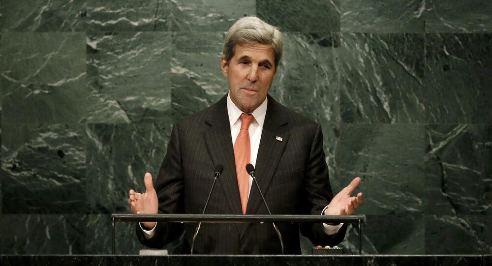 John Kerry, secretario de Estado de EEUU, durante la 71 Asamblea General de la ONU