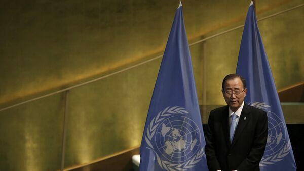 Ban Ki-moon, el secretario general de la ONU - Sputnik Mundo