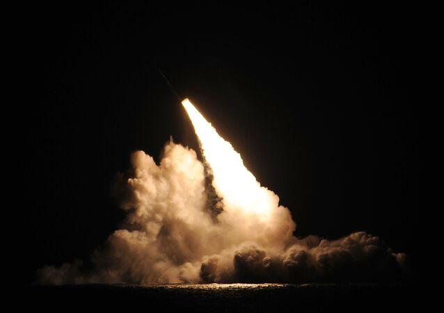 Misil balístico estadounidense (imagen referencial)