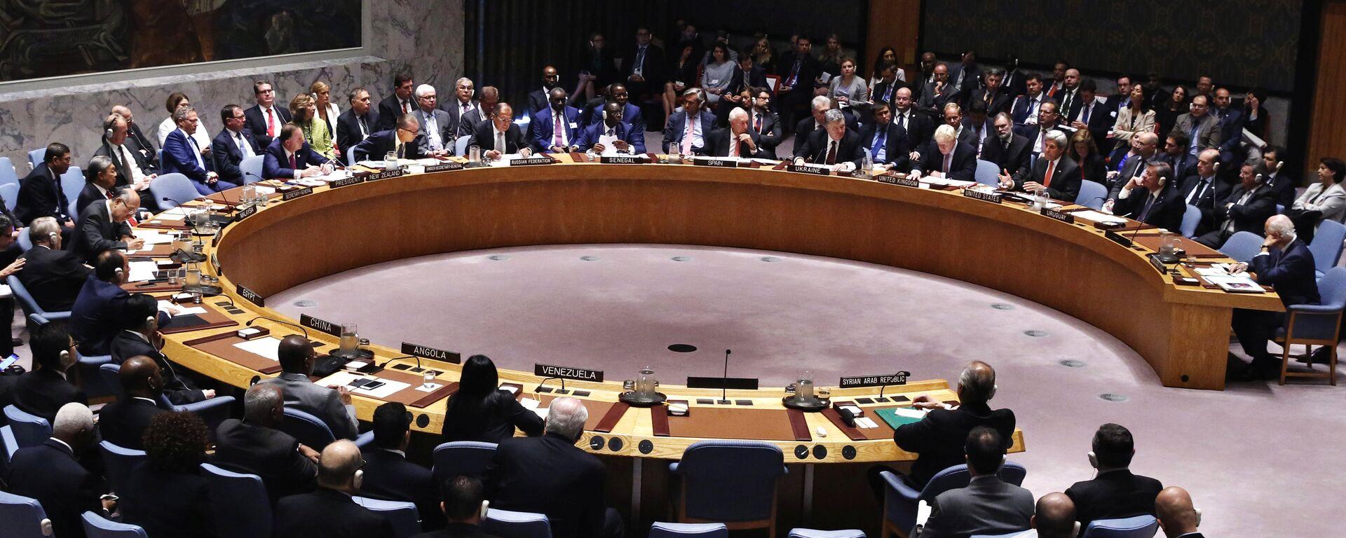 Consejo de Seguridad de la ONU en la sede en Nueva York (archivo) - Sputnik Mundo, 1920, 17.05.2021