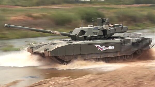 Демонстрация танка Т-14 Армата - Sputnik Mundo