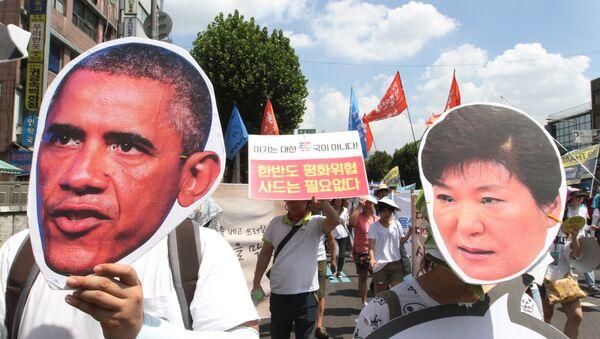 Protestas en Corea del Sur contra el despliegue del sistema THAAD - Sputnik Mundo