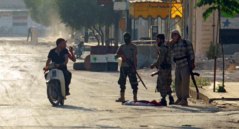 Combatientes del grupo yihadista Jund al Aqsa