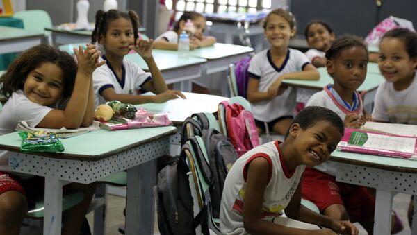 Una escuela brasileña - Sputnik Mundo