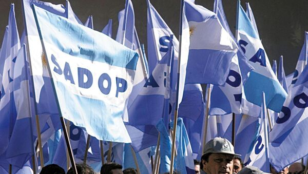 Los partidarios de la Confederación General del Trabajo de Argentina (archivo) - Sputnik Mundo
