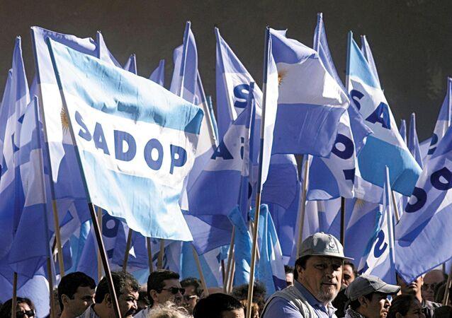 Los partidarios de la Confederación General del Trabajo de Argentina