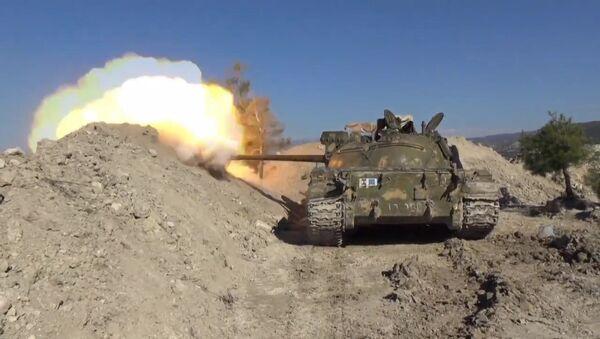 La ofensiva del Ejército sirio contra los terroristas en Latakia - Sputnik Mundo