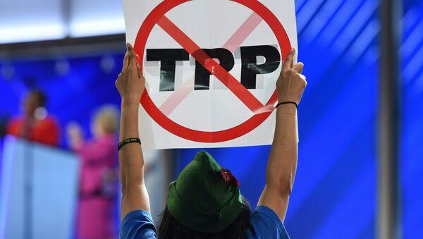 Protesta contra el TPP (archivo) - Sputnik Mundo