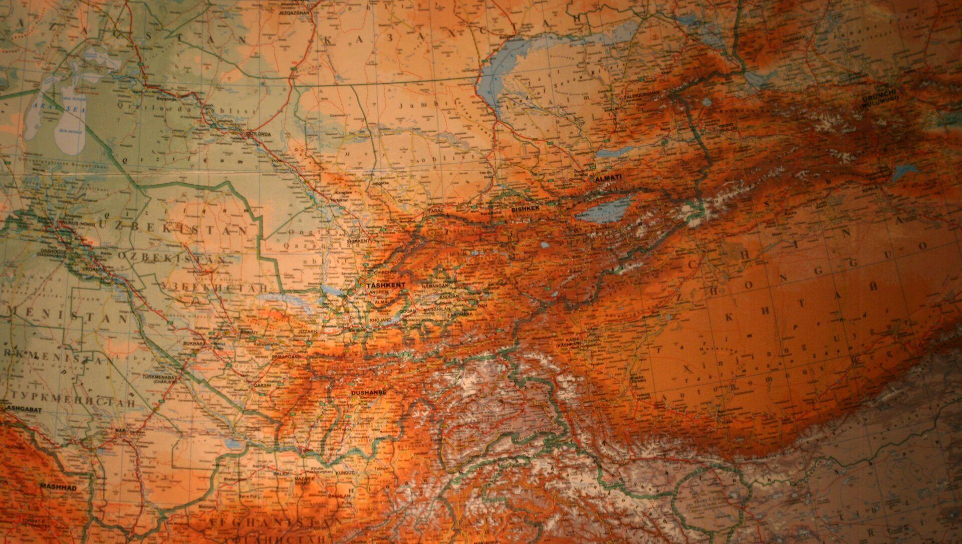 El mapa de Asia Central - Sputnik Mundo, 1920, 24.10.2020