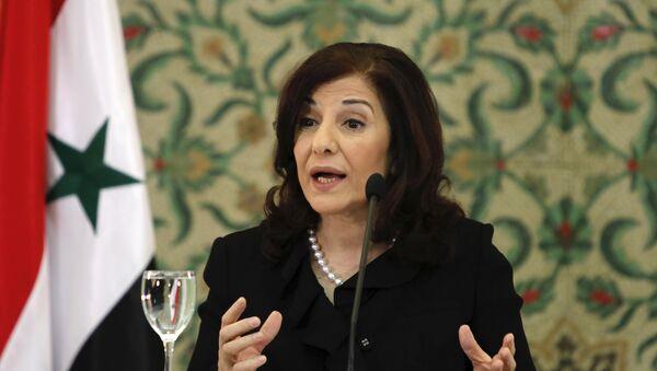 Bouthaina Shaaban, asesora del presidente Bashar Asad - Sputnik Mundo