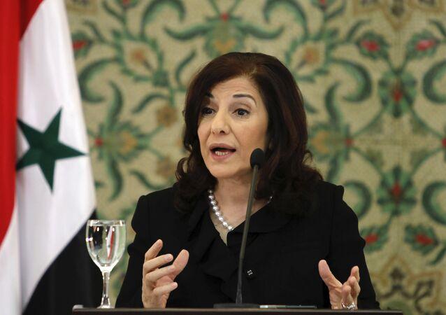 Bouthaina Shaaban, asesora del presidente Bashar Asad