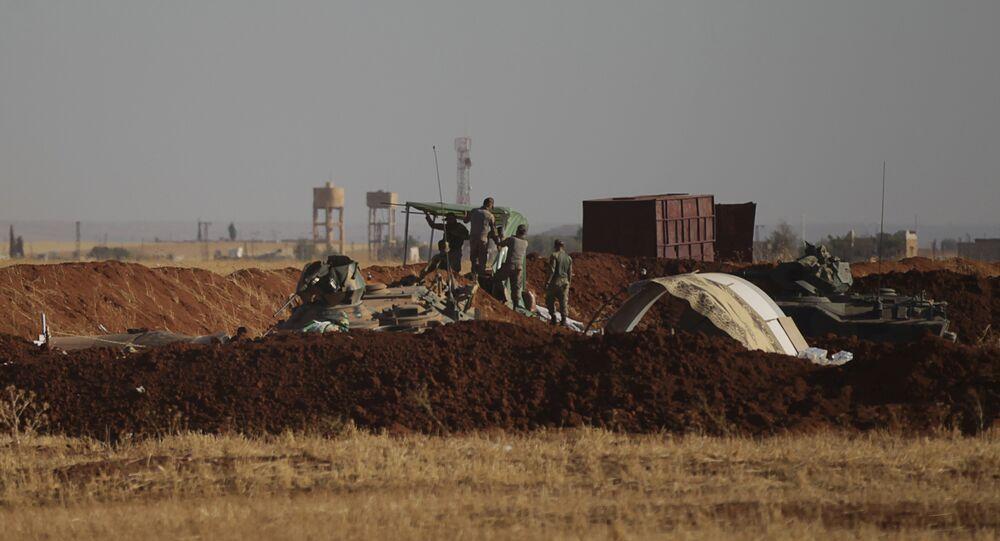 Los soldados turcos en Siria