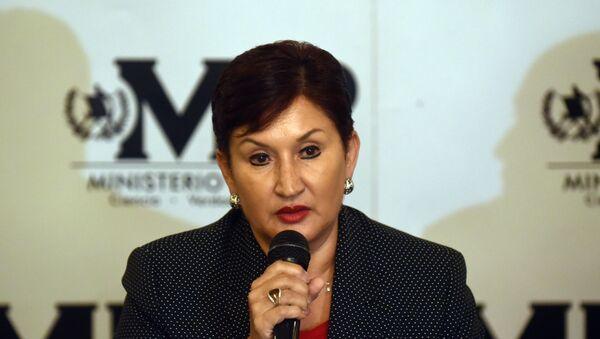 Thelma Aldana, fiscal general de Guatemala - Sputnik Mundo