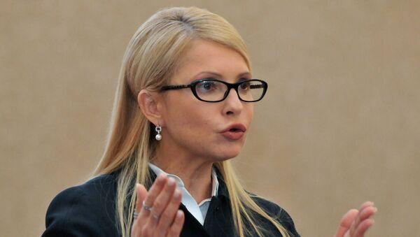 Пресс-конференция Юлии Тимошенко во Львове - Sputnik Mundo