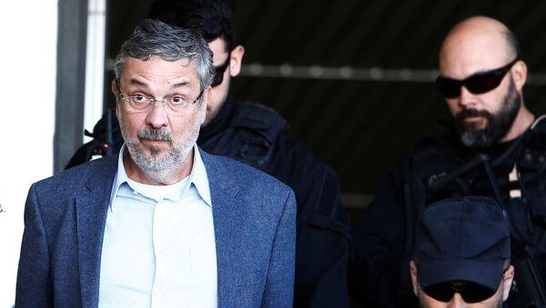 Antonio Palocci, exministro de Dilma Rousseff y Luiz Inácio Lula da Silva - Sputnik Mundo