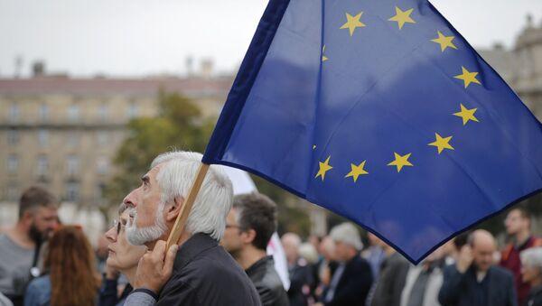 Protesta contra la política antinmigrante en Hungría, 2 de octubre de 2016 - Sputnik Mundo