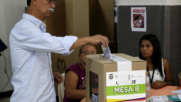 Votación de plebiscito en Colombia - Sputnik Mundo